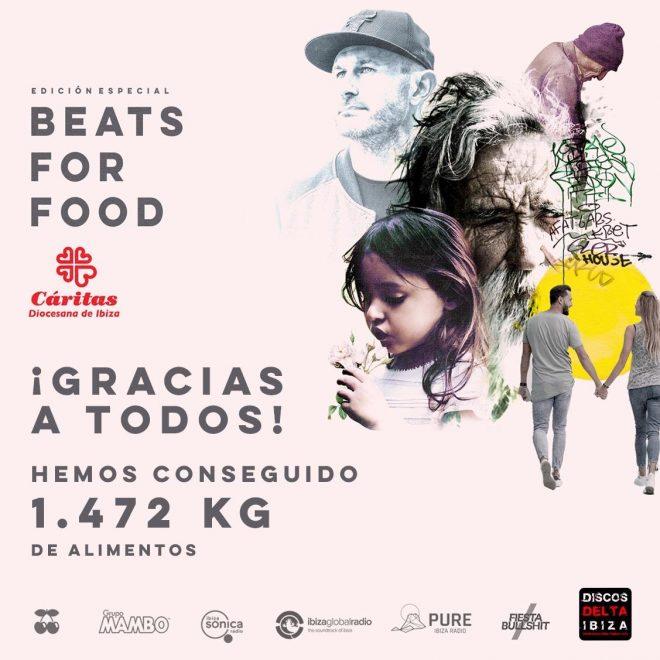 Beats for Food recoge una tonelada y media de comida para Caritas Ibiza.