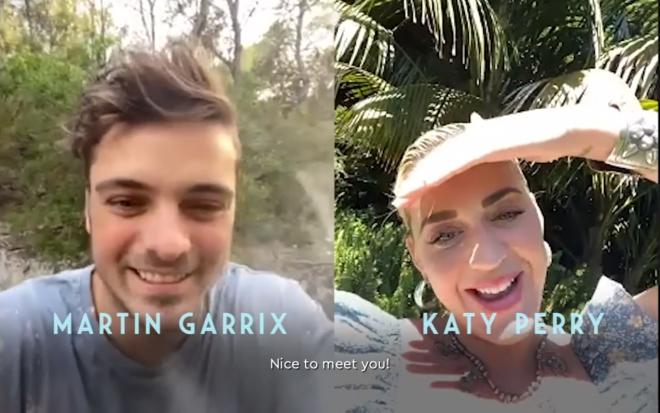 ¿De qué hablan Katy Perry y Martin Garrix?