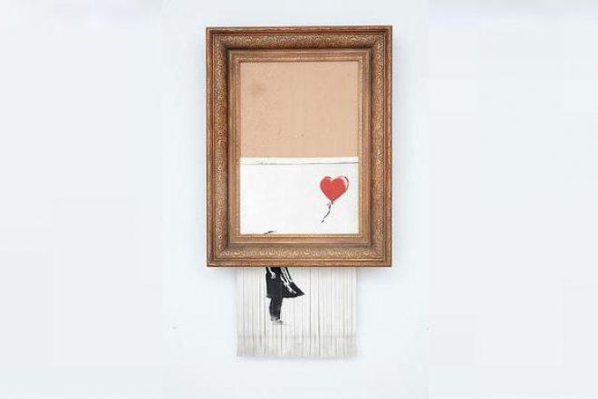 La obra de arte autodestruida de Banksy de nuevo a la venta en Sotheby's