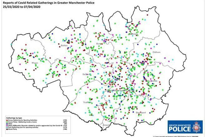 La policía de Manchester ha cerrado 660 fiestas durante la pandemia