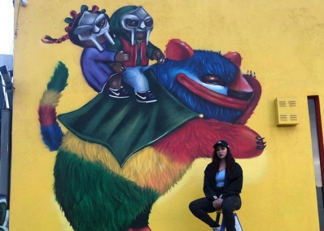 Street Art como homenaje al rapero MF Doom